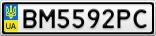 Номерной знак - BM5592PC