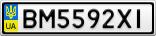 Номерной знак - BM5592XI