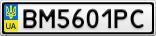 Номерной знак - BM5601PC