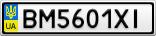 Номерной знак - BM5601XI