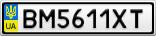 Номерной знак - BM5611XT