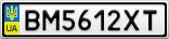 Номерной знак - BM5612XT