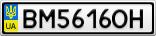 Номерной знак - BM5616OH