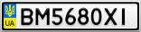 Номерной знак - BM5680XI