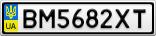 Номерной знак - BM5682XT