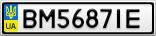 Номерной знак - BM5687IE