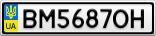 Номерной знак - BM5687OH