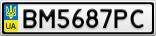 Номерной знак - BM5687PC