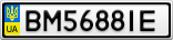 Номерной знак - BM5688IE