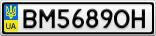 Номерной знак - BM5689OH