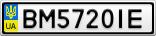 Номерной знак - BM5720IE