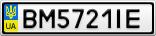 Номерной знак - BM5721IE
