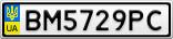 Номерной знак - BM5729PC