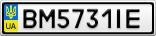Номерной знак - BM5731IE