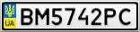 Номерной знак - BM5742PC