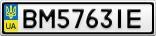 Номерной знак - BM5763IE