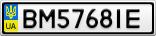Номерной знак - BM5768IE