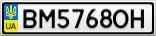 Номерной знак - BM5768OH