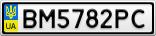 Номерной знак - BM5782PC