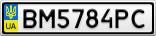 Номерной знак - BM5784PC