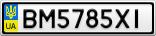 Номерной знак - BM5785XI