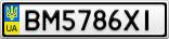 Номерной знак - BM5786XI