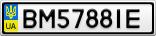 Номерной знак - BM5788IE