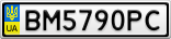Номерной знак - BM5790PC