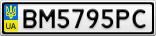 Номерной знак - BM5795PC