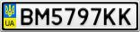Номерной знак - BM5797KK