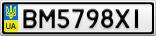 Номерной знак - BM5798XI