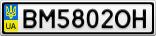 Номерной знак - BM5802OH
