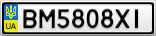 Номерной знак - BM5808XI
