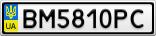 Номерной знак - BM5810PC