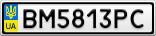 Номерной знак - BM5813PC