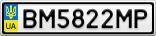 Номерной знак - BM5822MP