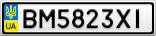 Номерной знак - BM5823XI