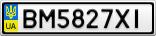 Номерной знак - BM5827XI
