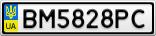 Номерной знак - BM5828PC