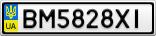 Номерной знак - BM5828XI