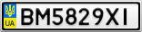 Номерной знак - BM5829XI