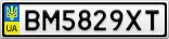 Номерной знак - BM5829XT