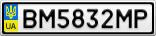 Номерной знак - BM5832MP
