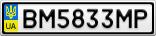 Номерной знак - BM5833MP