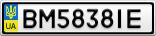 Номерной знак - BM5838IE