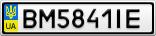 Номерной знак - BM5841IE