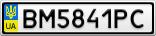 Номерной знак - BM5841PC