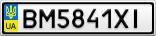 Номерной знак - BM5841XI