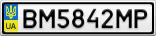 Номерной знак - BM5842MP