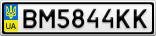 Номерной знак - BM5844KK